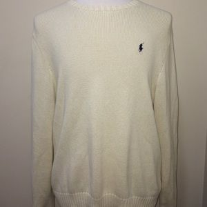 Men's polo Ralph Lauren White Pima cotton sweater